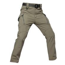078813d855f35 Hunting Pants Men IX9 Sharkskin Fleece Softshell Waterproof Trousers  Outdoor Sports Combat Cargo Military Tactical Pants