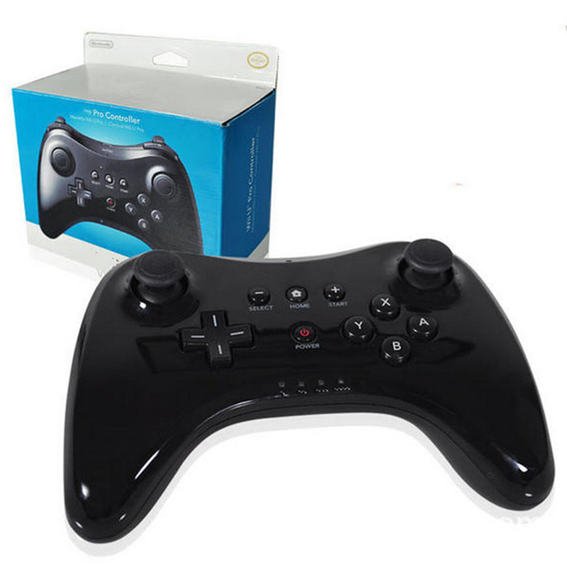 Wireless bluetooth gamepad for Nintendo wii u pro controller game joystick wiiu remote console Classic Dual Analog joypad white