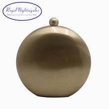 Royal Nightinglaes Metal Hard Box Clutch Gold/Silver/Bronze/Gunmetal Black Evening Bags for Womens Party Prom