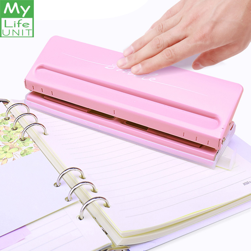 MYLIFEUNIT Metal 6 Hole Punch Craft Punch Paper Cutter Adjustable DIY Loose-Leaf Paper Punch Scrapbooking Office StationeryMYLIFEUNIT Metal 6 Hole Punch Craft Punch Paper Cutter Adjustable DIY Loose-Leaf Paper Punch Scrapbooking Office Stationery