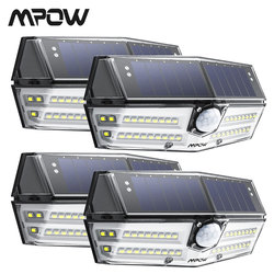 4 Pack Mpow 40 LED Solar Light Outdoor Motion Sensor Lights 24.5% High-efficient Solar Panel IP66 Luz Solar Led Para Exterior