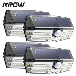 4 Pack Mpow 40 LED Solar Light Outdoor Motion Sensor Lights 24.5% High-efficient Solar Panel IP66 Luz Solar Led Para Exterior