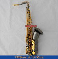 Профессиональный новый черный Никель тенор Саксофоны sax ручная гравировка колокол высокой F #