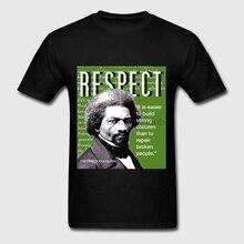 Frederick Douglass respeto citar camiseta de moda para los hombres(China) e6bc4c0fcd4