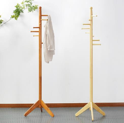 2015 Hot Sale 100% Oak hatrack,Fashion Countryside Wooden coat rack stand 177cm,8 wood hook coat rack,wood living room furniture