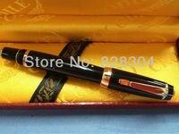 high quality black crocodile Roller Pen nib ruby gift box Office writing gift pen free shipping