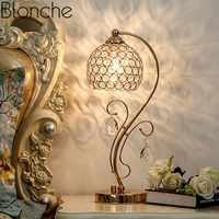 Nórdico Moderno candeeiro de Mesa de Cristal Lâmpadas Led Suporte Luz da Mesa para Sala Quarto Home Decor Arte do Ferro Luminárias de Leitura de Cabeceira e27