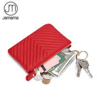 Jamarna Coin Purse Genuine Leather Key Holder Zipper Small Wallet Key Chain Card Holder Coin Holder Female Coin Holder Change