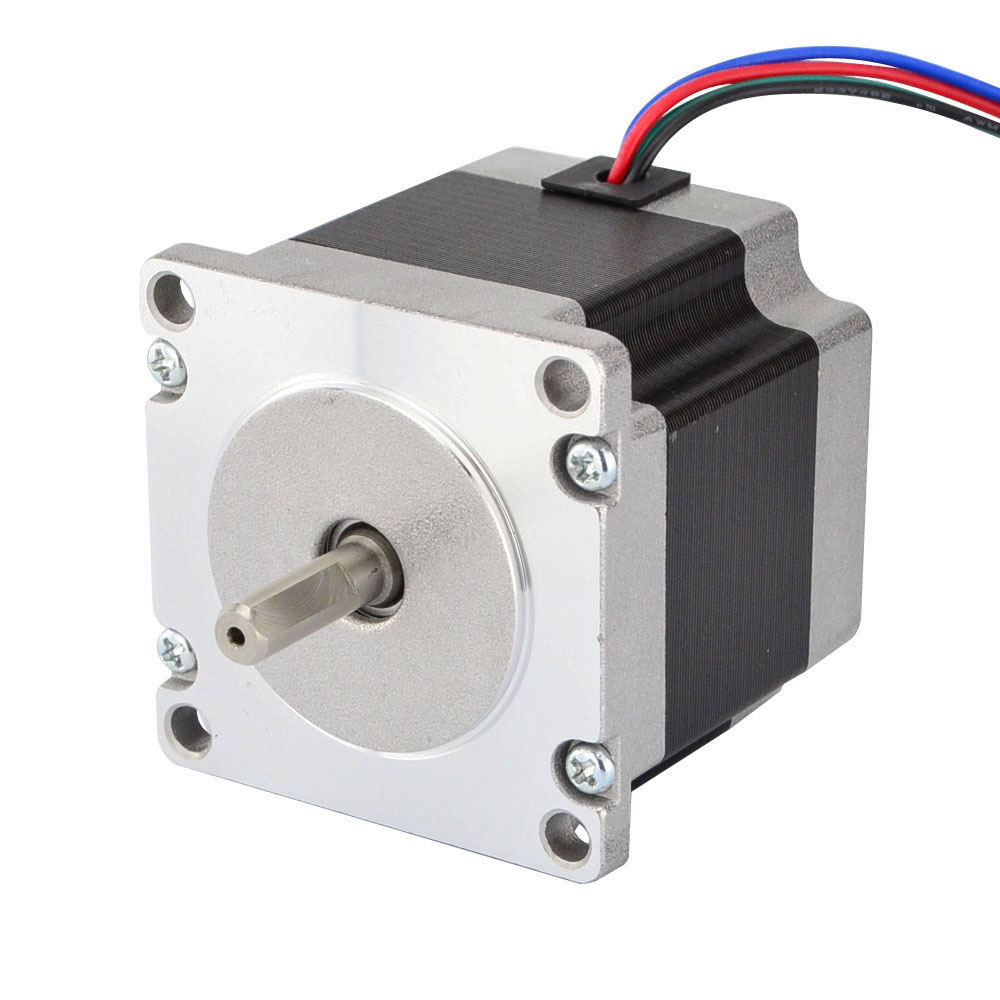 Nema 23 Stepper Motor 0.9Nm(127.5oz.in) 57x52mm 2A 4-lead 6.35mm Shaft Step Motor for CNC Lathe RouterNema 23 Stepper Motor 0.9Nm(127.5oz.in) 57x52mm 2A 4-lead 6.35mm Shaft Step Motor for CNC Lathe Router