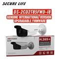Бесплатная доставка английская версия DS-2CD2T85FWD-I8 8MP H.265 + Пуля CCTV ip камера POE 80m IR SD карта