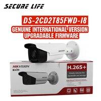 Бесплатная доставка английская версия DS-2CD2T85FWD-I8 8MP H.265 + пуля ip CCTV Камера POE 80 м ИК SD карты