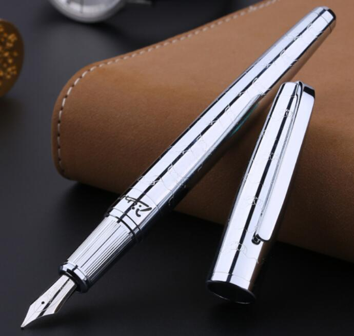 Pimio 918 Luxury Metal carving 0.5mm Nib Financial Fountain Pen High-end Gift Pens Stationery with an Original Gift CasePimio 918 Luxury Metal carving 0.5mm Nib Financial Fountain Pen High-end Gift Pens Stationery with an Original Gift Case