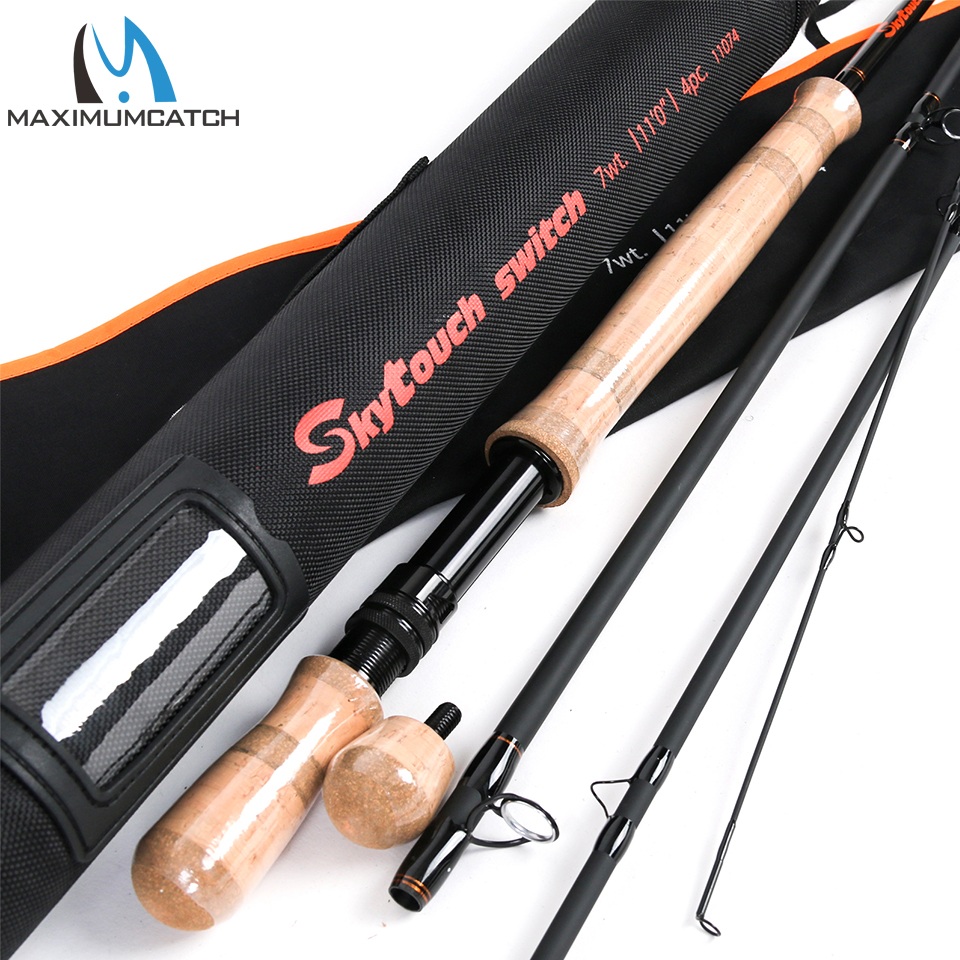 Maximumcatch Switch & Spey Fly Rod IM10 30T+40T Carbon Fiber Fast Action Fly Fishing Rod With Cordura Rod Tube стоимость