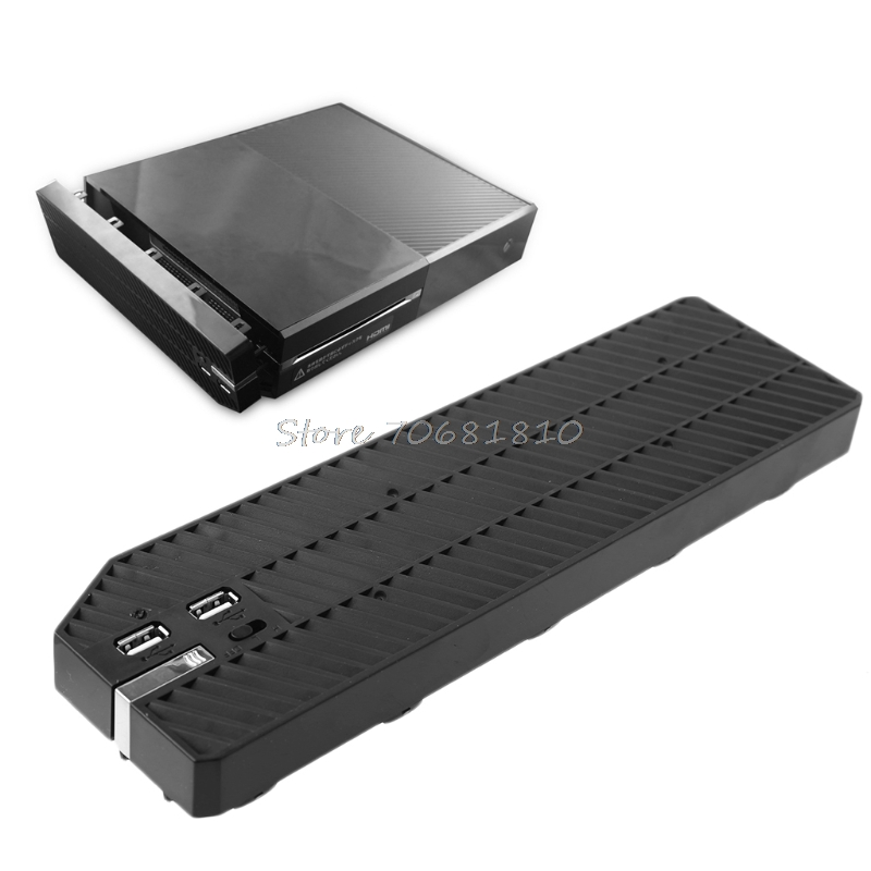 Black Cooling Cooler Fan Exhauster Intercooler For Microsoft For Xbox One with Dual USB New #C77# Dropship