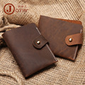 The New Vintage Handmade Leather Wallet Mens Crazy Horse Leather Wallet simple leather wallet wholesale