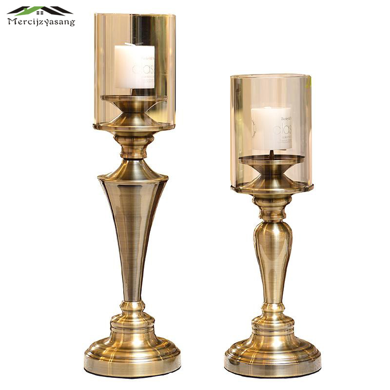 Glass Metal Candle Holder European Votive Candlestick Romantic Candle Holders for Wedding Dinner Decoration Candelabra GZT032Glass Metal Candle Holder European Votive Candlestick Romantic Candle Holders for Wedding Dinner Decoration Candelabra GZT032