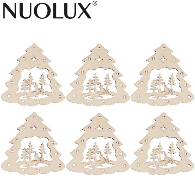 Christmas Tree Cut Out.Us 1 65 36 Off 10pcs Christmas Tree Wooden Discs Diy Craft Decor Wood Cutout Slices Ornaments Christmas Tree Pendants Tags In Wood Diy Crafts From