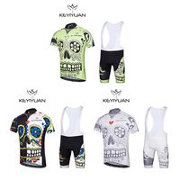 KEYIYUAN 2018 New Autumn And Winter Cycling Jersey Suit Men Shorts Short Sleeved Mountain Outdoor Equipment
