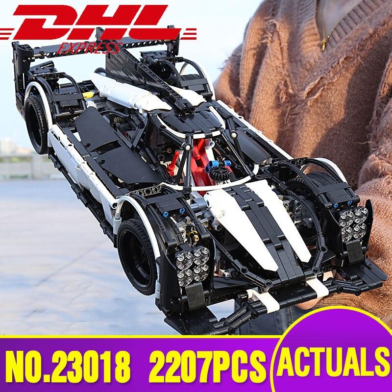 DHL Lepin 23018 Technique Jouet Le MOC-5530 Hybride Super Voiture De Course Mis Blocs de Construction Briques Legoinglys Modèle De Voiture Cadeaux De Noël