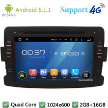 Quad Core 2Din Android 5.1.1 1024*600 Car DVD Player Radio Stereo BT FM DAB+ 3G/4G WIFI GPS Map For Renault Duster 2012 2013