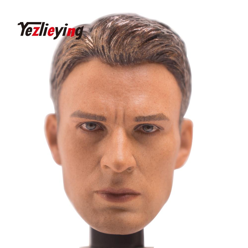 "Custom 1//6th Captain America Head Sculpt For 12/"" Man Figure Body"