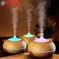 300 ml ultrasonic humidificador de vapor frio aroma difusor do óleo essencial de grão de madeira para home office quarto estudo sala de yoga spa