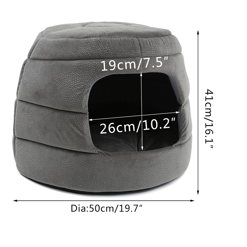 New fashion cats and kennel 2 in 1 honeycomb hut pet puppy foldable cat ferry high quality anti-gray slippery waterproof bottom
