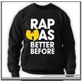 2016 New Arrival Bape Hoodies Men Moletom Wu Tang Clan Crew Neck Rap Was Better Before Classic Hip Hop Rza Hoodie Sweatshirts