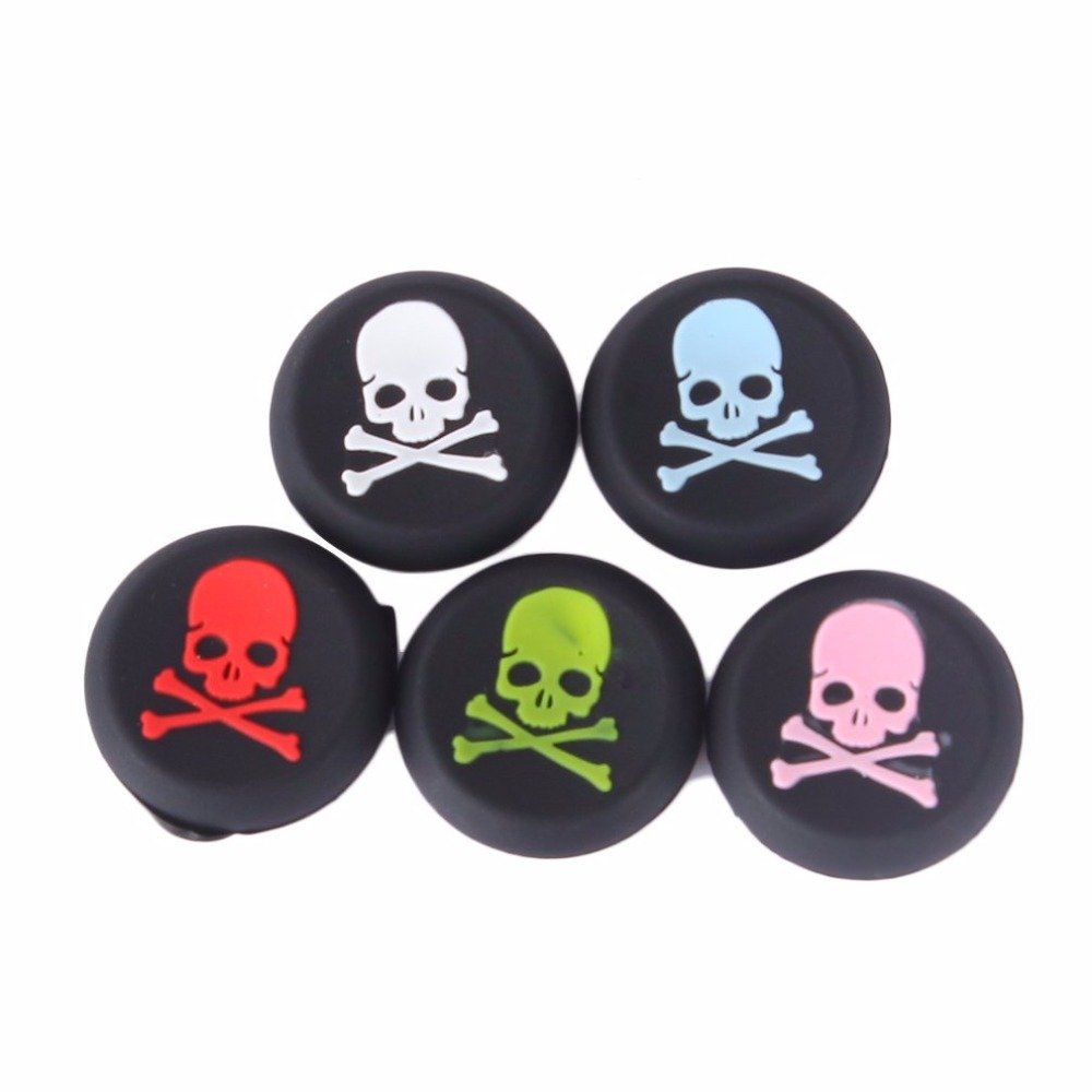 100pcs/lot Skull Head Thumb Stick joystick silicone Cap For Xbox one Xbox360 Controller Analog Grip For Playstation 4 PS4 PS3