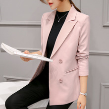 2017 Spring Autumn Women Blazers And Jacket Blazer Feminino Long Sleeved Slim Office Lady Women Suit Women Autumn Clothes