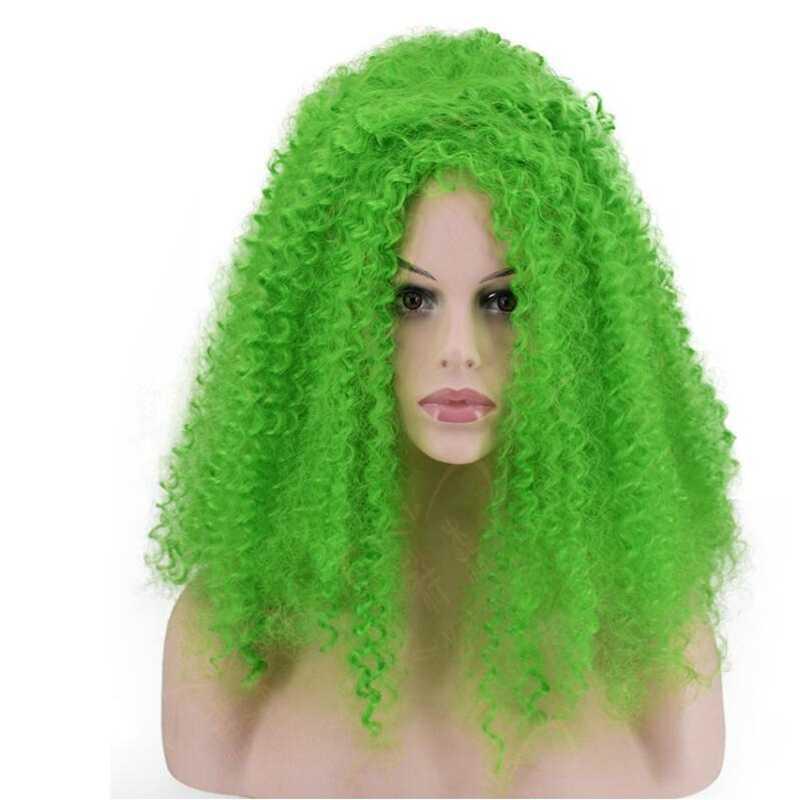 JOY & BEAUTY Красный Белый Зеленый Желтый Глод температура синтетического волокна женский парик афро кудрявый парик для косплея 20 дюймов