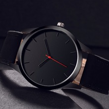 Купить с кэшбэком 2018 Men Watch Top Brand Luxury Large Dial Sport Business Wristwatch Montre Homme Leather Relojes Hombre Quartz Male Watch Clock