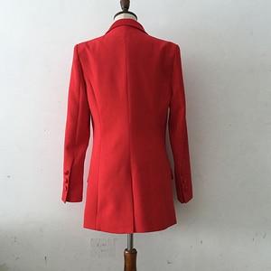 Image 3 - Di ALTA QUALITÀ di Più Nuovo Modo 2020 Del Progettista Blazer Giacca da Donna star Raso di Stile Del Collare Lungo della Giacca Sportiva di Usura Esterno