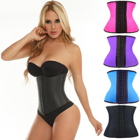 New Arrivals Woman Waist Trainer Slimming Shaper Corset Waist Cinchers 2015 High Quality Latex Steel Boned