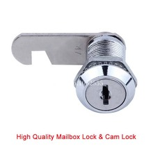 10PCS Cam Lock For Door Cabinet Mailbox Drawer Locker Keys Forcer Security Home Automation Locks 16mm/20mm/25mm/30mm/40mm K25 kak combination cabinet lock black silver zinc alloy password locks security home automation cam lock for mailbox cabinet door