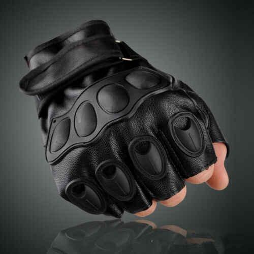 Ejército táctico guantes deportes al aire libre mitad Mitad de dedo contra guante de moto de un tamaño