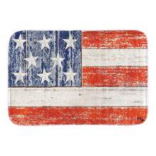 Memorial Day Doormats Patriotic & Military American Flag Decor Indoor Outdoor Door Mats Soft Short Plush Fabric Bathroom Mats