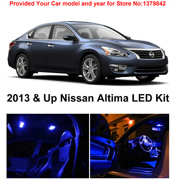 Free Shipping 7Pcs/Lot car-styling Premium Package Kit LED Interior Lights For Nissan Altima Sedan 2013 & Up