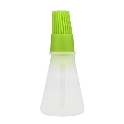 Силиконовая кисть для масла, кисти для выпечки, жидкое масло, ручка для торта, Масло Хлеб, ручка для жидкого масла, круглая щетка для барбекю, кухонный инструмент, новинка - Цвет: Green