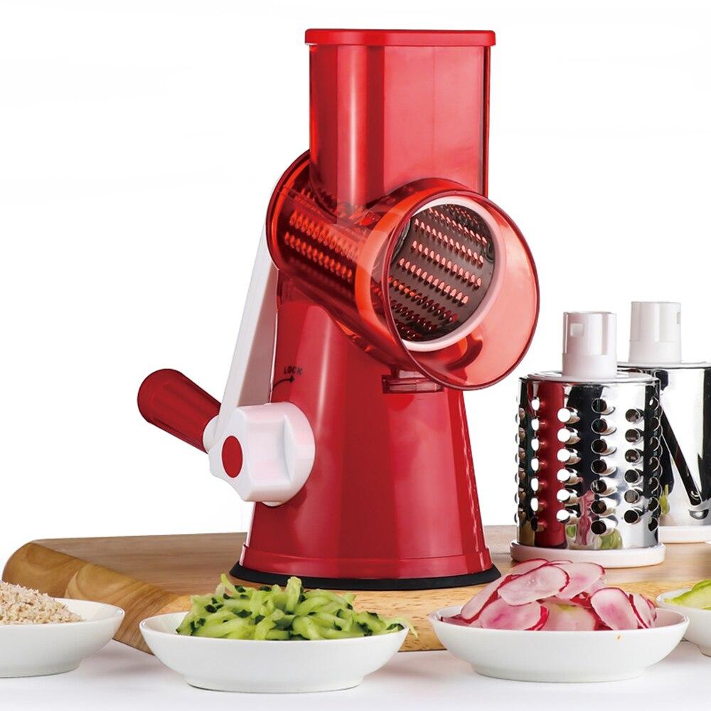 Multifunzionale azionati A mano Verdura Formaggio Trituratore Dispositivo Drum-tipo di Accessori Per la Cucina di Verdure Cutter Robot da Cucina