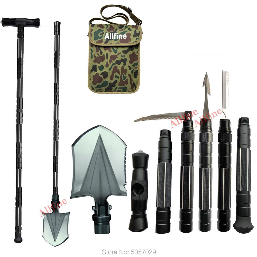 Shovel Military Heavyduty Folding Compact Tool With 6-in-1 Multifunction For Off-Roading Camping Outdoor Survivalist Emergency