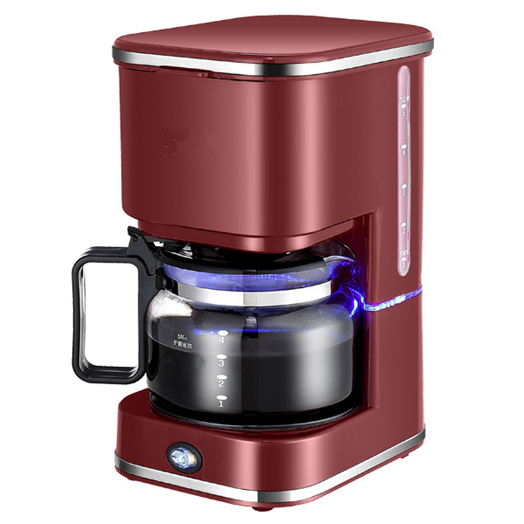 Americano Cafe maker household automatic drip commercial tea coffee making machine coffee grinding machine electric 120w coffee machine espresso americano coffee maker for household with 1 pcs coffee pot tea machine