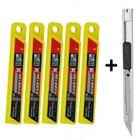 1pc Snap Off Art Knife 50pcs Extra Retractable Blades For Car Window Repair Scraper Cleaning Tools