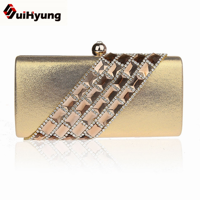 Free Shipping Female Hangbag Bling Crystal Wedding Day Clutch Small Purse Ladies Party Evening Bags Women Diamond Clutch Bags