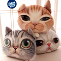 Japan cartoon-realistic 3D face cat pillow car home Cat Head cushion simulation cat face