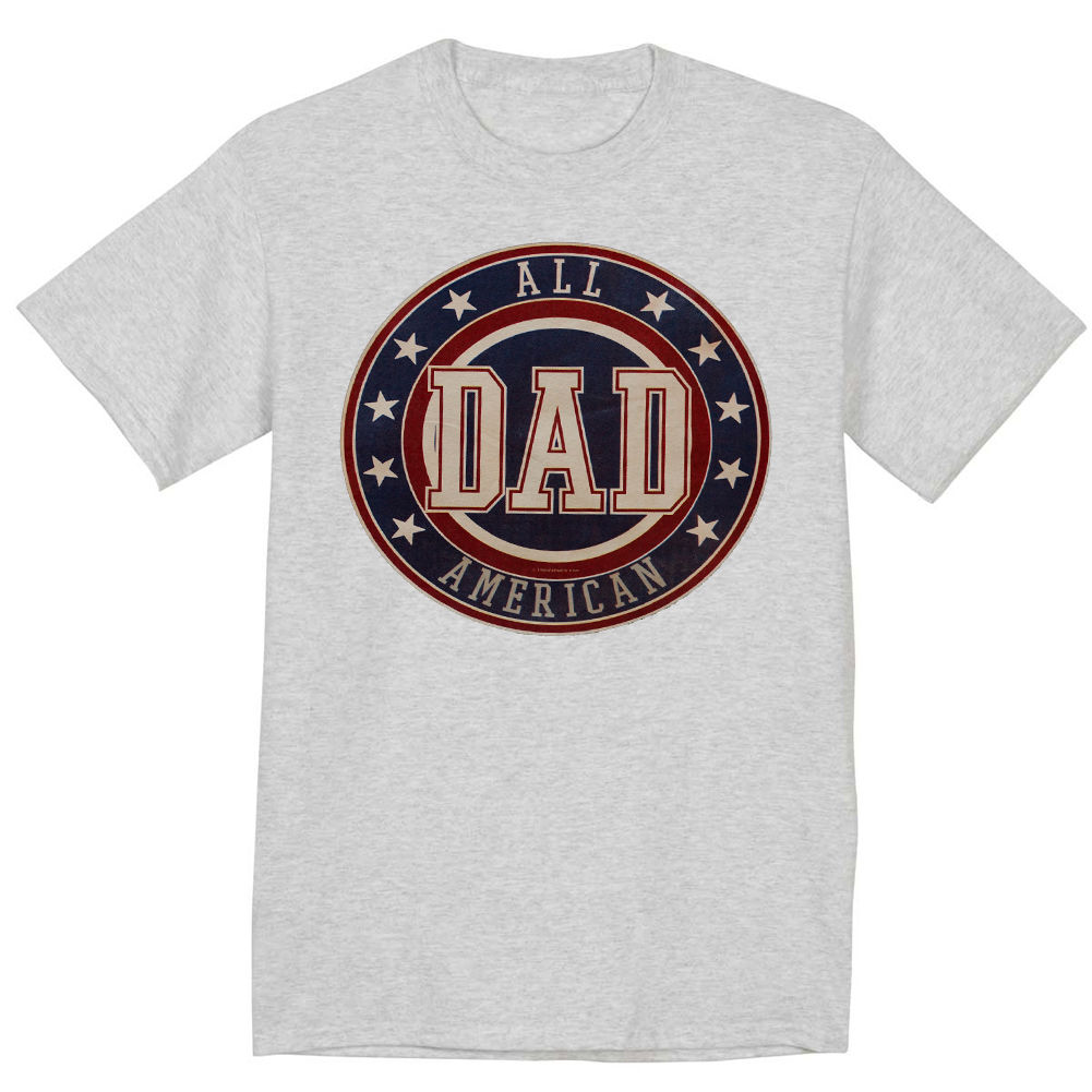 Funny fathers day shirt gift for dad All American dad tee shirt Short Sleeve Discount 100 % Cotton T Shirts