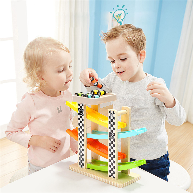 Baby Boys Toy Car Model Children Slideway Small Cars Set For Education kids train track model slot toy baby racing car double