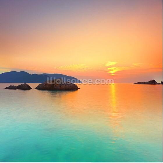 Personalizzato Paesaggio Naturale Carta Da Parati Alba Sul Mare