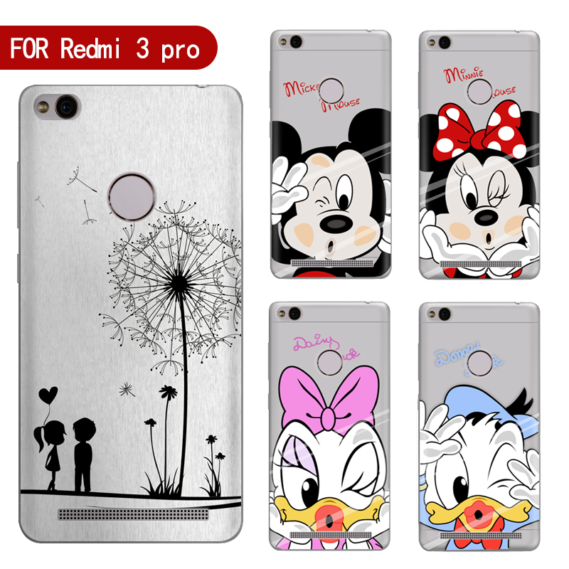 newest collection e6c4a bf7c0 Phone case For Xiaomi Redmi 3 Pro 3s Cute Cartoon High Quality Painted TPU  Soft Phone Case Silicone Cover Shell