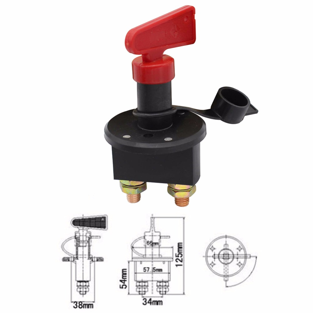 Interruptor de apagado de batería de coche interruptor de desconexión de batería de alta corriente interruptor de apagado para barco marino de coche